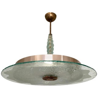 1940s Swedish Moderne Glass Pendant For Sale