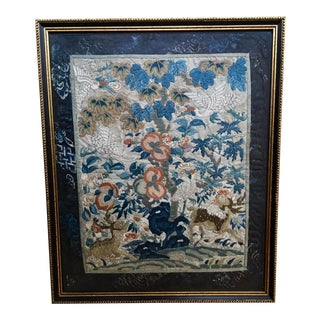 Antique Chinese Embroidered Silk Panel For Sale