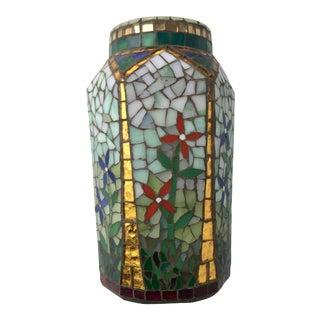 Vintage Mosaic Vessel/Vase For Sale