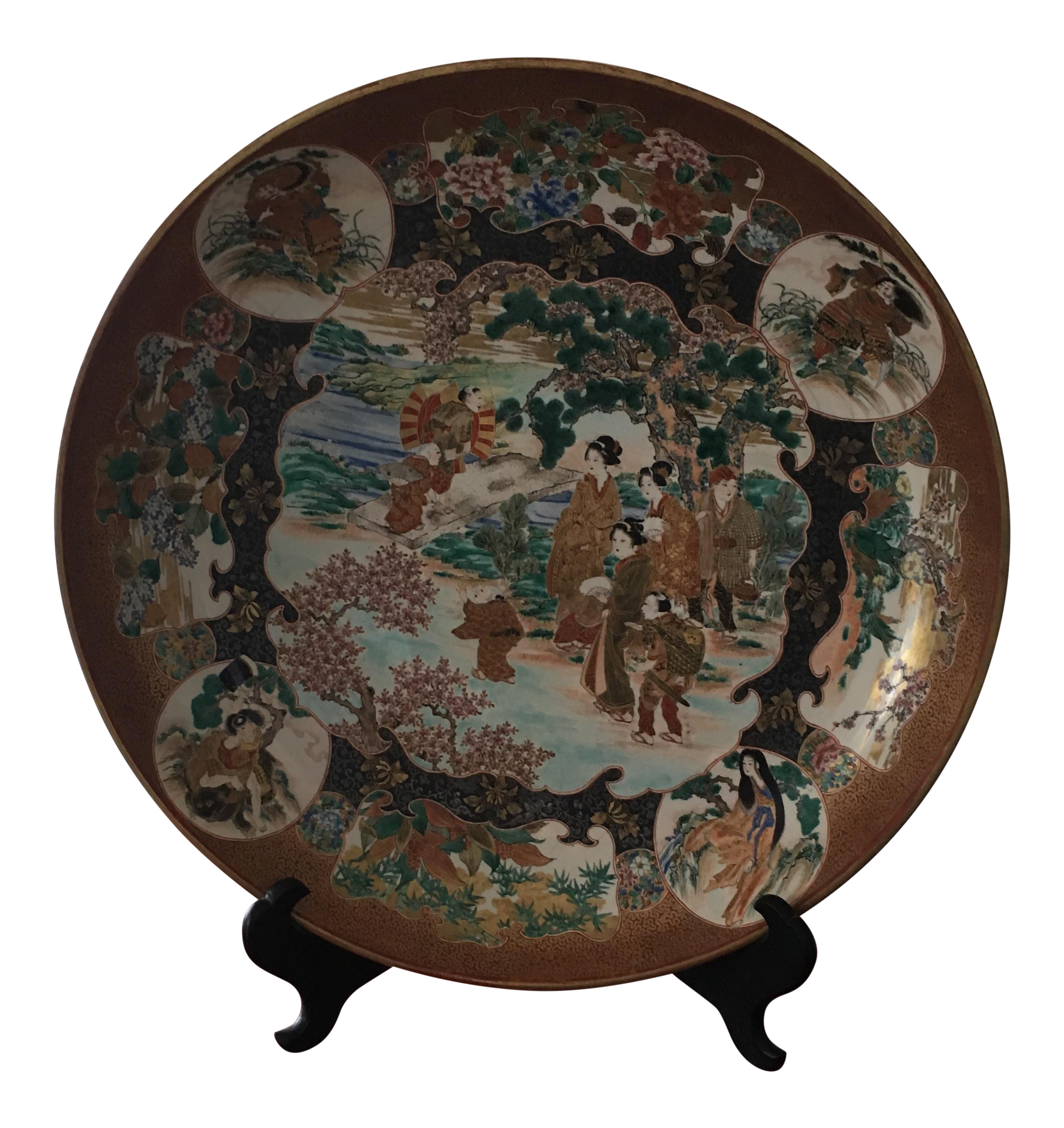 Japanese Satsuma Charger Plate  sc 1 st  Chairish & Vintage \u0026 Used Japanese Decorative Plates | Chairish
