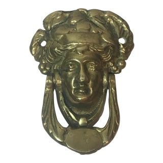 Brass Greek Figurine Door Knocker