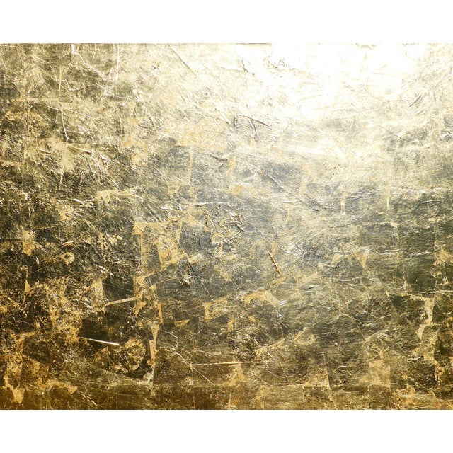 """Gold Monumental, Contemporary """"Gold"""" Gold Leaf Canvas by Martha Holden For Sale - Image 8 of 9"""