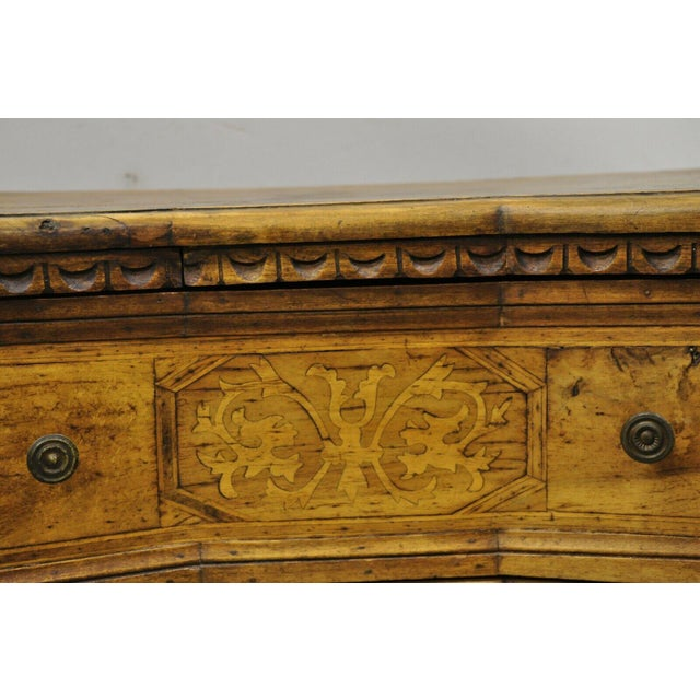 Italian Antique Italian Continental 3 Drawer Inlaid Walnut Commode Chest Nightstand For Sale - Image 3 of 12