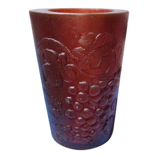 Red Sascha Brastoff Decorative Resin Candle Holder For Sale