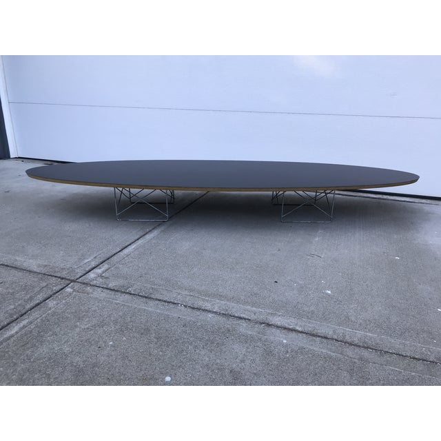 Mid-Century Modern Herman Miller Black Laminate Surfboard Coffee Table For Sale In San Francisco - Image 6 of 8