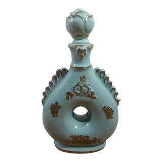 Hand Decorated Ceramic Perfume Bottle With Stopper