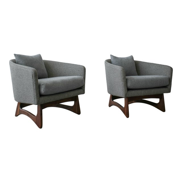 Mid-Century Lounge Chairs by Adrian Pearsall for Craft Associates - a Pair For Sale