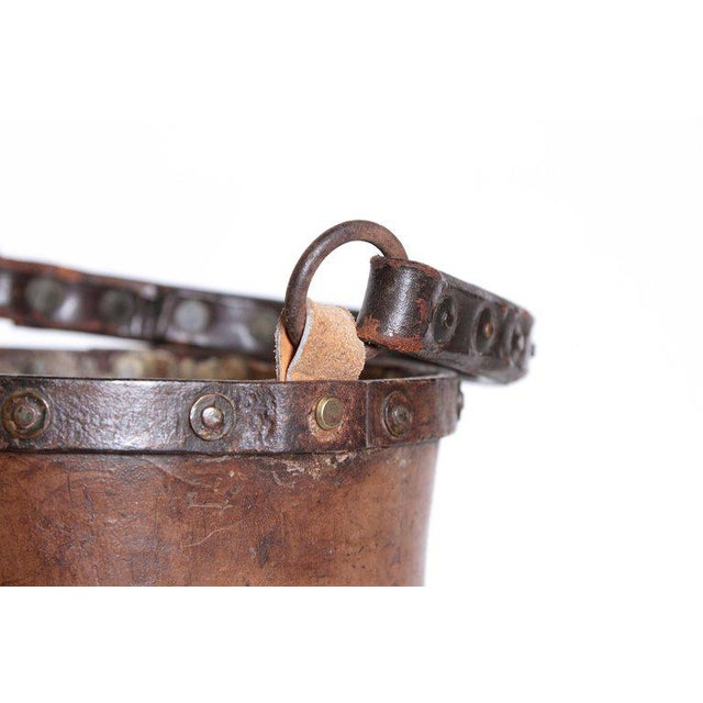 A 19th Century English Leather Fire Bucket For Sale - Image 9 of 13