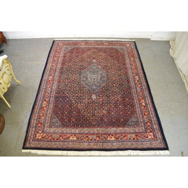 Farahan Sarook Blue Hand Knotted Persian Oriental Room Size Rug Carpet -- 9' x 11' - Image 2 of 10