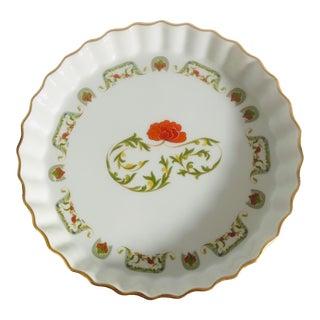 L Lourioux Le Faune Fireproof Porcelain Quiche Baking Dish For Sale
