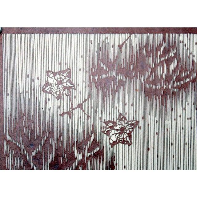 8716fe462 Antique Japanese Kimono Fabric Stencil Katagami For Sale - Image 4 of 10