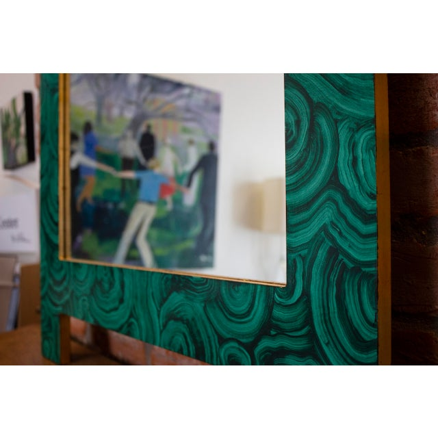 Green Green Malachite Wall Mirror For Sale - Image 8 of 13
