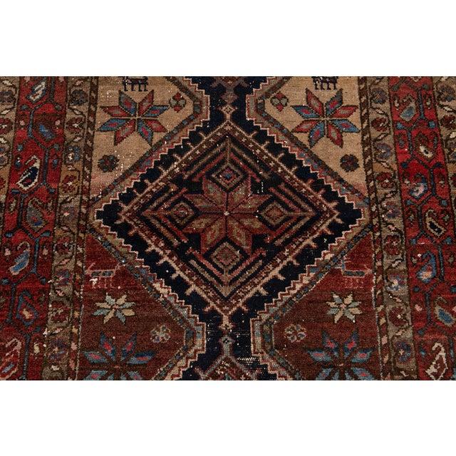 Brown Vintage Heriz Wool Rug 3'7'' X 6'5'' For Sale - Image 8 of 13