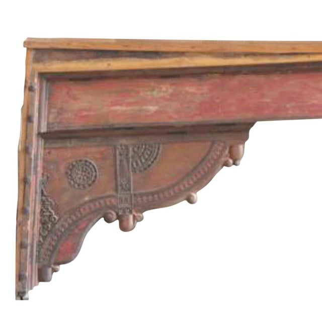 Red Beam Console Table For Sale - Image 4 of 4
