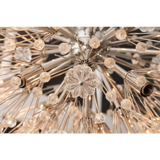 Glass Sputnik Twelve-Arm Chandelier For Sale - Image 7 of 7