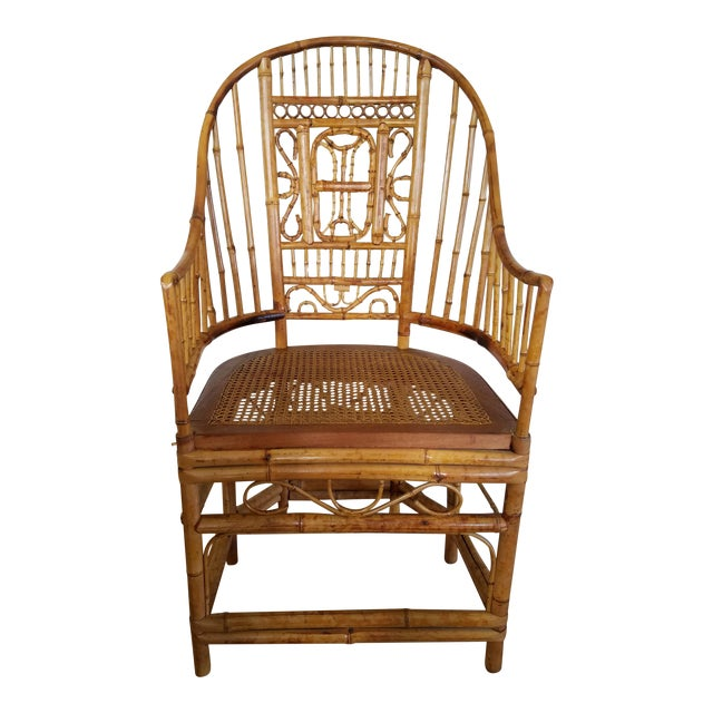 Thomasville Bamboo Chinoiserie Armchair For Sale