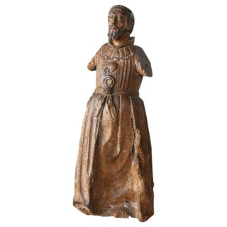 Late 18th Century Carved Italian Santo For Sale