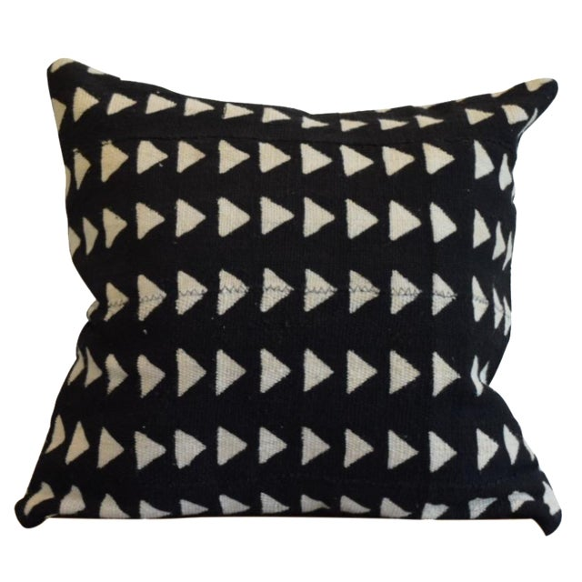 Triangle Pattern Mud Cloth Pillow - Image 1 of 4