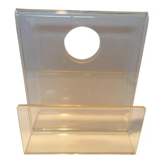 Mid-Century Lucite Magazine Holder For Sale