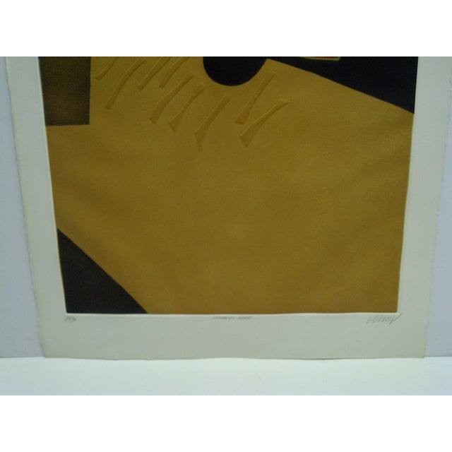 """Modern Limited Edition -- Signed Numbered (26/50) Print -- Titled """"Topographic Agraire"""" -- by Donny For Sale - Image 3 of 9"""