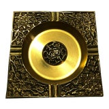 Image of Vintage Asian Brass Ashtray For Sale