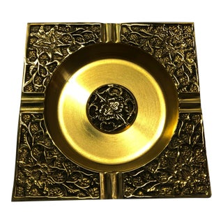 Vintage Asian Brass Ashtray For Sale