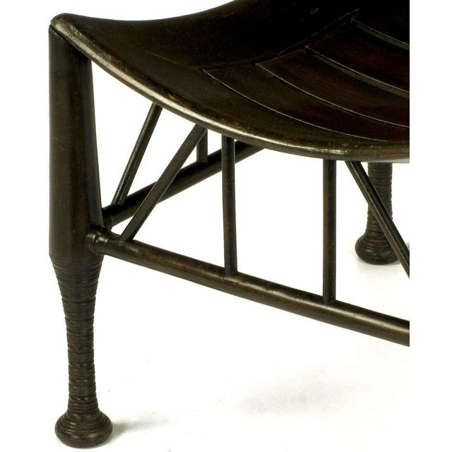 Dark Oak Egyptian Revival Thebes Stool, circa 1900, Liberty & Co. Attributed For Sale In Chicago - Image 6 of 8