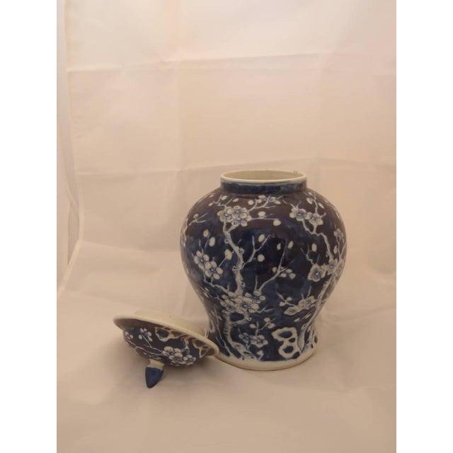 Pair of Blue Porcelain Vases For Sale - Image 4 of 8