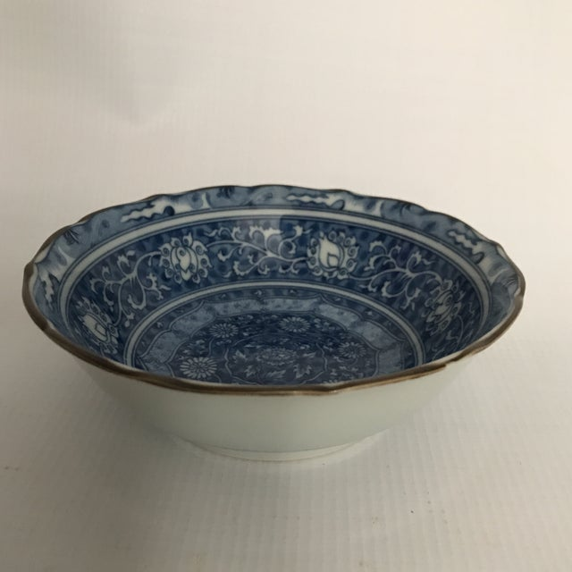 Blue & White Chinese Porcelain Bowl For Sale - Image 4 of 11