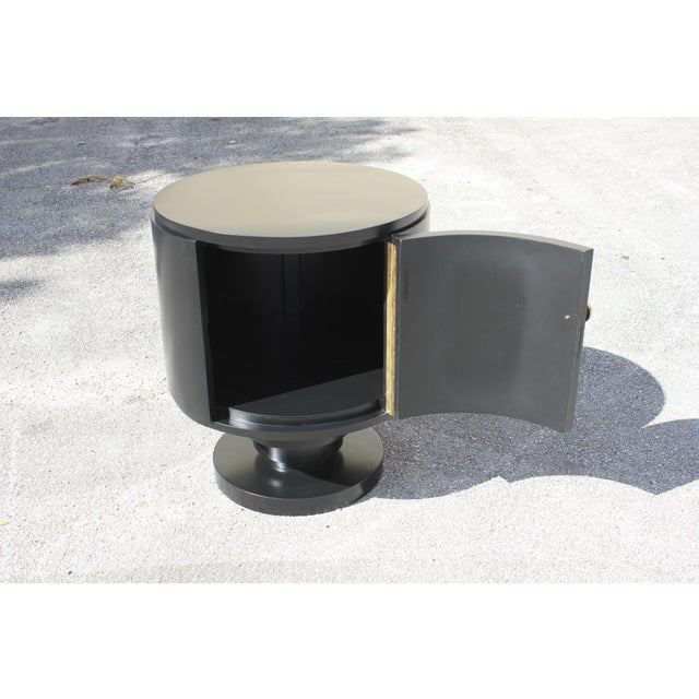 1940s French Art Deco Cylinder Dry Bar For Sale In Miami - Image 6 of 13