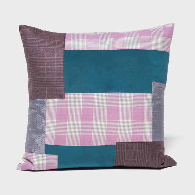 Japanese Suiting Throw Pillow For Sale In Chicago - Image 6 of 6
