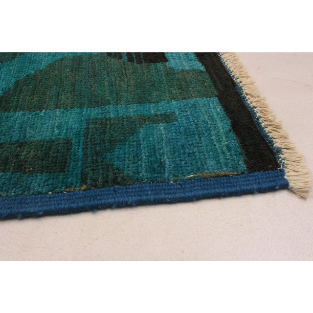 Contemporary Contemporary Green and Teal Rug - 7′ × 9′ For Sale - Image 3 of 6
