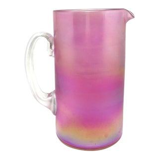 Vintage Aurene Art Glass Pitcher For Sale