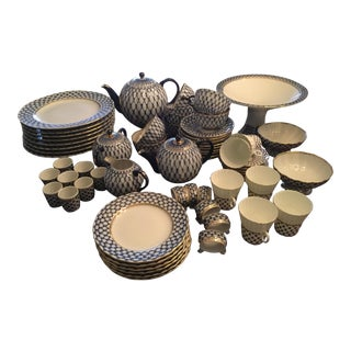 Russian Lomonosov Tea Set & Dinnerware - Set of 84