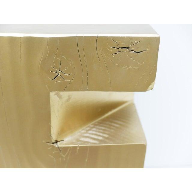 "Custom Wooden Totem ""E"" Stool For Sale - Image 4 of 7"