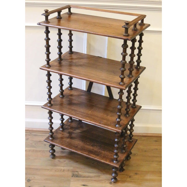 19th Century Late 19th Century. Antique Rustic Folk Art Wooden Spool Shelves For Sale - Image 5 of 13
