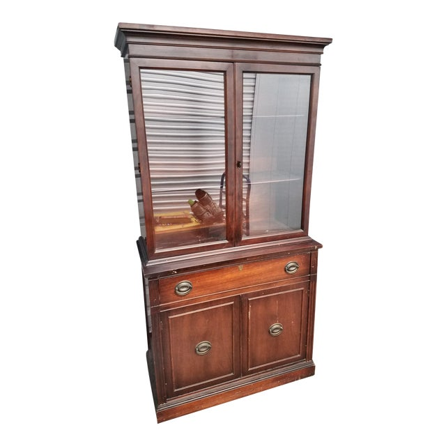 Antique Mahogany China Cabinet - Antique Mahogany China Cabinet Chairish