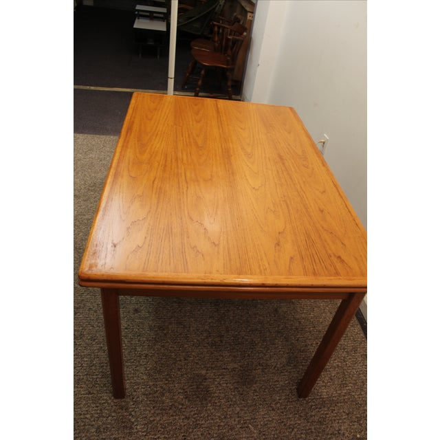 Mid-Century Danish Modern Teak Dining Table - Image 6 of 10