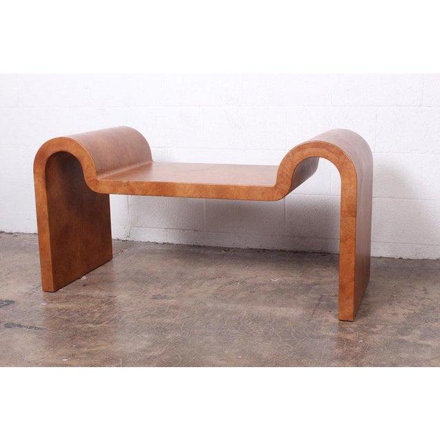 Karl Springer Goatskin Parchment Bench For Sale - Image 13 of 13