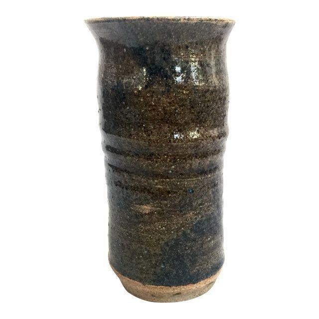 Handmade Mottled Clay Vase - Image 1 of 6