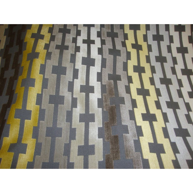 Velvet Geometric Accent Pillows - A Pair - Image 3 of 3