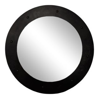 Clay Mirror, Black Metal, Large For Sale