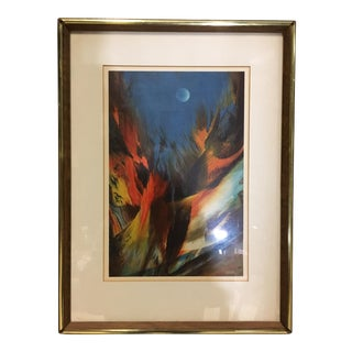Leonardo Nierman Original Lithograph 'Mystic Moon' For Sale