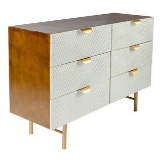 Honeycomb White & Gold Dresser
