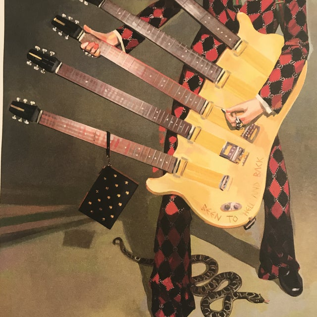 Framed Gucci Abstract Motorcycle Shoes & Rockstar Guitar Fashion Self Portrait Art - a Pair For Sale - Image 10 of 11