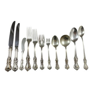 Marlborough by Reed & Barton Sterling Silver Flatware Set 12 Service 132 Pcs For Sale
