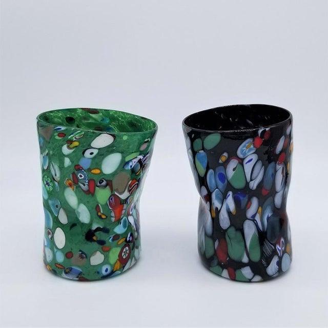 Murano Glass Custom Set of 10 Glasses Goti For Sale - Image 10 of 11