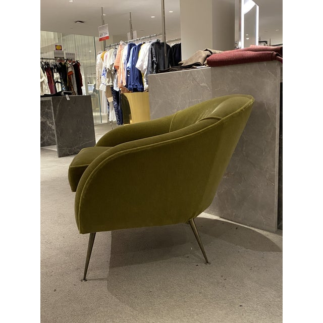 Mid-Century Modern Mid Century Chair With Mohair Upholstery For Sale - Image 3 of 6