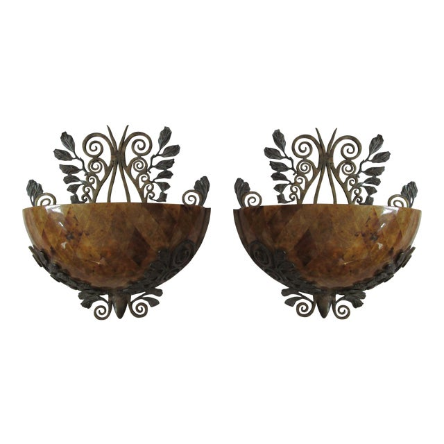 Maitland Smith Penshell Sconces - Pair - Image 1 of 5
