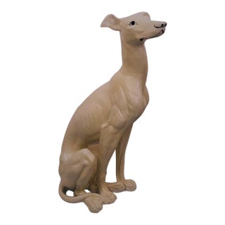 Vintage Tall Italian Greyhound Dog Sculpture For Sale